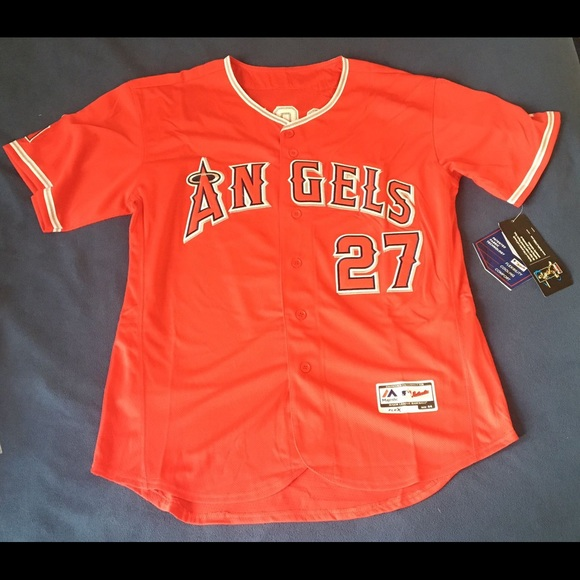 Mike Trout #27 Los Angeles Angels Flex Base MLB Jerseys NWT